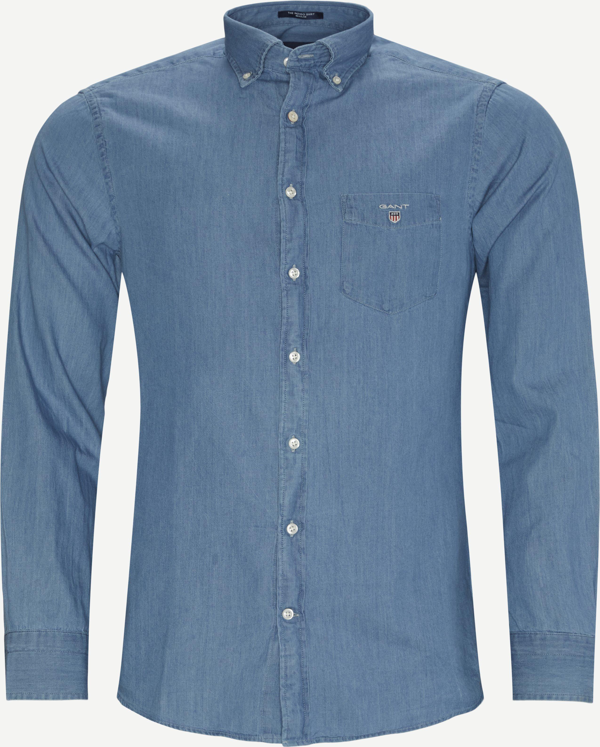 Reg Indigo Skjorte - Shirts - Regular - Denim